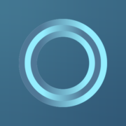 digital rendering of a blue circle